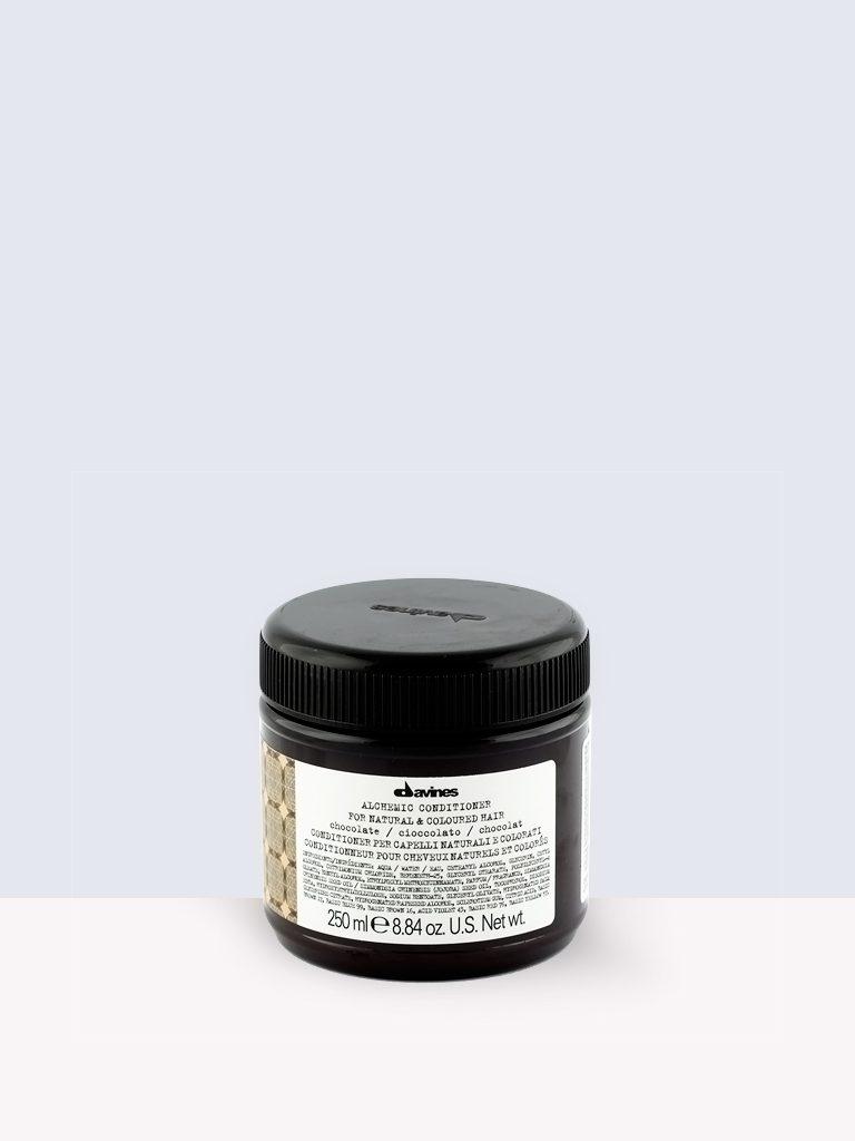 Davines Alchemic conditioner / CHOCOLATE- Балсам за сияйна тъмна коса