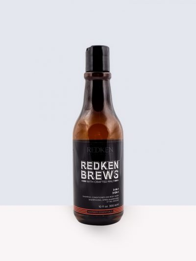 Redken Brews Barber Essential 3 in 1- Шампоан, балсам и душ гел