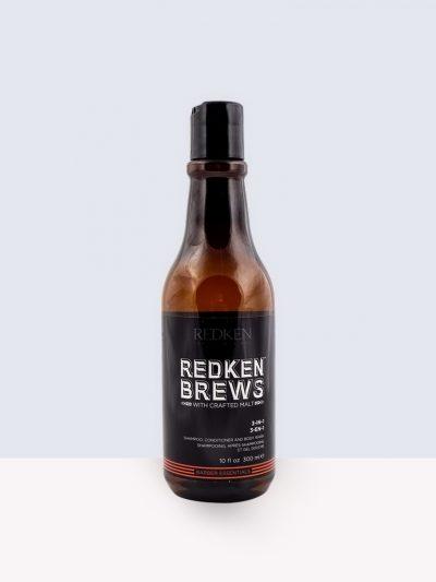 Redken Brews Barber Essential 3 in 1- Шампоан, балсам и душ гел