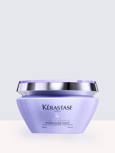 Kѐrastase Blond Absolu Masque Ultra-Violet- Маска неутрализираща жълти оттенъци  и максимална хирдатация за руса коса.