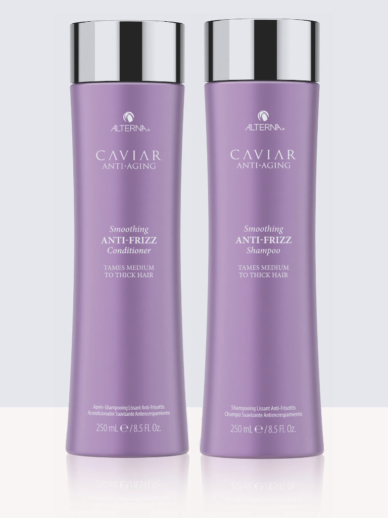 Комплект изглаждащи балсам и шампоан за буйни коси Alterna Caviar Anti-Frizz