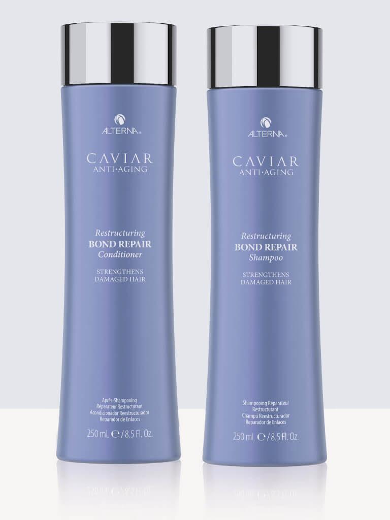 Комплект реструктуриращи шампоан и балсам за увредена коса Alterna Caviar Bond Repair