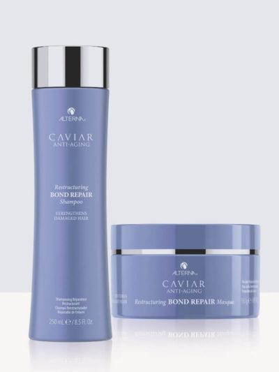Комплект реструктуриращи шампоан и маска за увредена коса Alterna Caviar Bond Repair