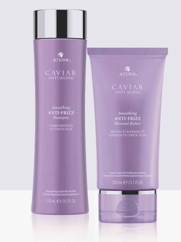 Комплект изглаждащи шампоан и крем за буйни коси Alterna Caviar Anti-Frizz
