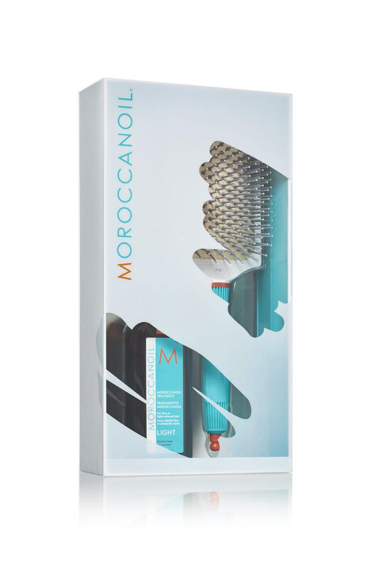 Комплект на MOROCCANOIL - терапия за фина коса + четка