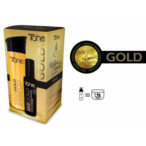 Tahe Pack Keratin Gold – Кератин Комлект (Шампоан 300мл. и Маска концентрат 125мл.)