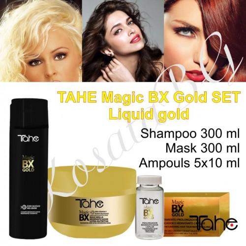 TAHE MagicBX Gold Pack 3×1 – Подхранващ и уплътняващ комплект 3х1 / БОТОКС ефект /