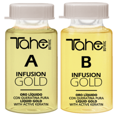 TAHE INFUSION GOLD A+B / 2x10ml / - Интензивно удебеляване, регенериране и подхранване на косата.