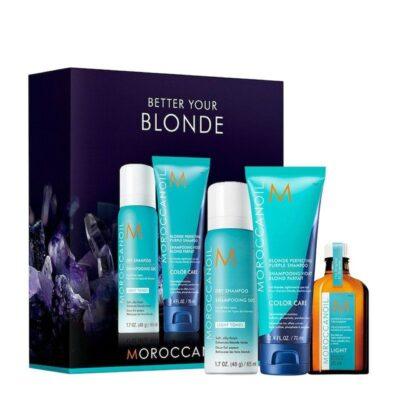 Moroccanoil Blond Travel Set- Mини комплект за пътуване за руси коси