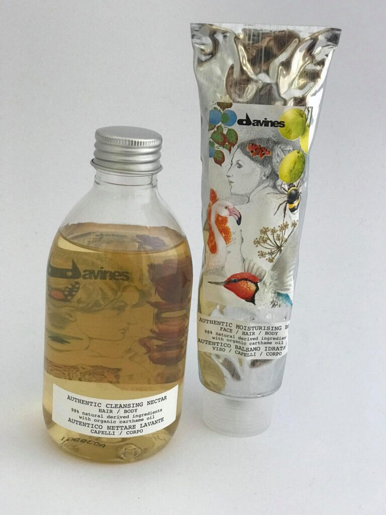 Davines Authentiс-Хидратиращ и Почистващ нектар за коса и тяло+Хидратиращ балсам за коса, лице и тяло