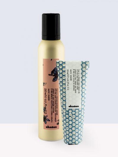 Davines Styling – Крем гел силна фиксация +Пяна за обем средна фиксация